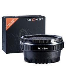 Optical Glass Pentax PK K Lens To Nikon AI AF F Camera Mount Adapter Ring
