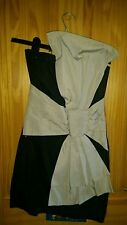 ASOS Little black dres with huge cream bow size 8