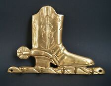BRASS BOOT WESTERN COWBOY COWGIRL SPUR RODEO COOL KEY RACK