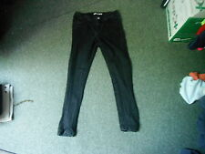 "Dorothy Perkins Skinny Jeans Size 10s Leg 28"" Black Faded Ladies Jeans"