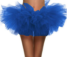 Women Vintage 5 layered Tulle Tutu Skirt for Running and Race w/ Elastic Waist