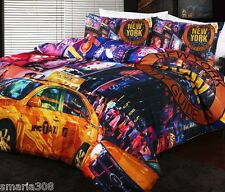 New York Times Square - King Bed Quilt Cover Set - Great Gift idea!