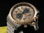 New Invicta Rose Gold Dial 18k R.G. Ion-Plated Stainless Steel Bracelet Watch
