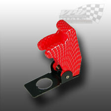 AIRCRAFT STYLE RED CARBON EFFECT FLIP COVER FOR 12v RACING TOGGLE SWITCH