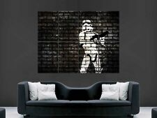 BANKSY STORMTROOPER  PRINT ART WALL PICTURE POSTER  GIANT HUGE