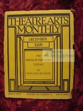 THEATRE ARTS December 1928 Stanislavsky French Theater Cyril W. Beaumont