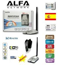 AWUS036H,ALFA 1, 1W,1000MW,V5,REALTEK,8187L,ANTENNA WIFI,SHIPMENTS FROM SPAIN