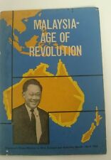 1965 Future of Malaysia - Age of Revolution, Lee Kuan Yew 李光耀 pictures booklet