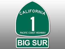 (2 Pcs: 5x5 inch total) PCH Highway 1 Sign and BIG SUR Stickers -pacific ca road