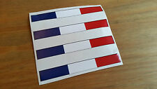 france flag stripe french x4 Racing Car Sticker Van Caravan Motorbike 10x2cm