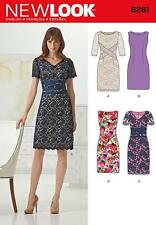 NEW LOOK SEWING PATTERN MISSES DRESS WITH NECK VARIATIONS SIZE 8 -18  6261 SALE
