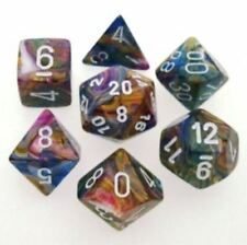 Chessex Polyhedral 7 Die Carousel with White Numbers Dice CHX 27440