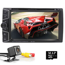 In Dash Car Radio GPS Navigation System Bluetooth DVD Player USB+Backup Camera