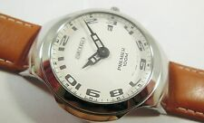 Seiko Premier SKP131 Stainless Steel 7N39-0A78 Leather Sample Watch NON-WORKING