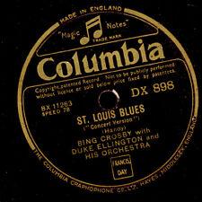"""BING CROSBY & DUKE ELLINGTON ORCH. St. Louis Blues """"Concert Version"""" 78rpm G2959"""