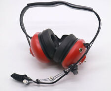 General Aviation Pilot Youth Headset Aircraft GA connector 3.5MM MP3 Input RED
