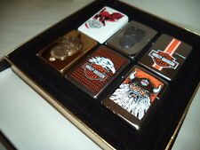 ZIPPO  LIGHTER FEUERZEUG HARLEY DAVIDSON SET 6 PIECES  VERY RARE NEW