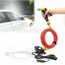 Portable High Pressure Washer Power Pump Self-priming Car Wash Kit 12V 65W