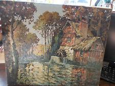 tableau de Raoul Etève - ETEVE : vieux moulin à Bessy sur Cure dans l'yonne