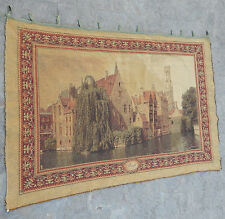 Vintage French Beautiful Scene Tapestry 139x94cm (A313)