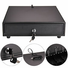 Heavy Duty POS Cash Register Drawer 4 Bills&5 Coins Removable Cash Tray Till