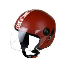 MP Glory Red Open Face Motorcycle Scooter Helmet for Gents/Boys with ISI Mark