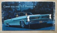 PONTIAC orig 1963 USA Mkt sales brochure - Bonneville Catalina Safari Grand Prix