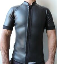 Men's 2mm Smooth Skin Wetsuit Jacket Short Sleeve & Full Zipper Size: XL-New