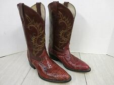 Snakeskin Western Boots Quality Made in Mexico Excellent Cond  28 (US Size 9)