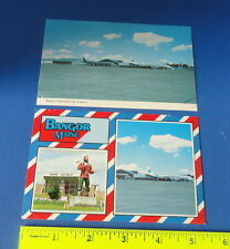 (2) Old Aviation Postcards - Airline Planes