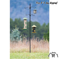 Bird Seed Feeder Station Pole Kit Decor Outdoor Living Garden Backyard Hanger