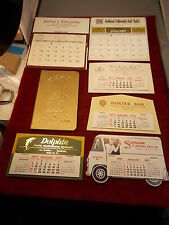 #1 of 5, LOT OF NOS OLD VTG SALESMAN'S SAMPLE CALENDARS FROM 1977, WITH VARIETY