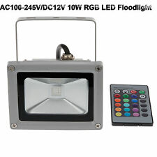 10W LED RGB Flood Spot Light Outdoor Garden Landscape Lamp AC 85V-265V Or DC12V
