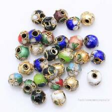 Nice 110pcs Mixed Cloisonne Enamel Round Spacer Loose Beads 6mm