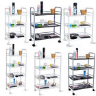 3/4 Shelf Beauty Salon Trolley Cart Storage Tattoo Dentist Wax Treatment Home