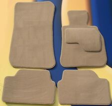 BMW 5 E60 RHD 2003 - 2010 & M SPORT TUFTED BEIGE CAR FLOOR MATS WITH 4 x PADS