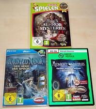 3 WIMMELBILD PC SPIELE SAMMLUNG MIRROR MYSTERIES HAUNTED MANOR MIDNIGHT POE