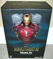 "2010 Hot Toys 1/4th Scale Iron Man 2 Movie 9"" Mark IV (4) Bust Canadian"