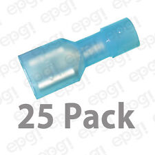 """FEMALE FULLY INSULATED QUICK DISCONECT TERMINAL NYLON .25"""" BLUE 16-14g#103D-25PK"""