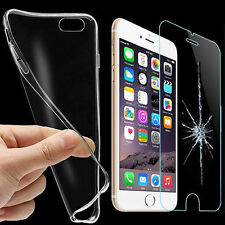 iPhone 6S Ultra Slim Case + PANZER Folie Silikon Hülle Tasche Echt Schutz Glas