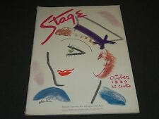1936 OCTOBER THE STAGE MAGAZINE - GERTRUDE LAWRENCE - GREAT PHOTOS & ADS - ST 68