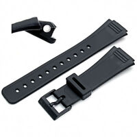 Replacement Watch Strap 18mm Black Resin  to fit Casio 399DP4 (AQ47)