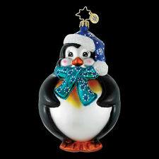 "Radko Puffin Polly 5 1/2"" Round Penguin Ornament 1016118 NWT"