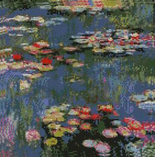 "Monet Water Lilies Counted Cross Stitch Kit 10"" x 10"""