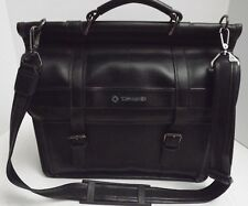 Samsonite Leather Computer Bag Laptop Messenger Briefcase Attache Black