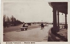 Argentina Buenos Aires - Avenida Costanera old real photo sepia postcard