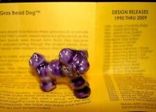 2009 Haydels ARTIST PROOF king cake doll BEAD DOG purple Mardi Gras New Orleans