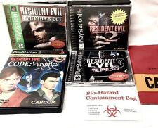 RESIDENT EVIL 1 •&• 2 •&• 3 NEMESIS •&• CODE VERONICA X •&• File & Bag PS1 PS2