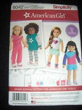 "18"" DOLL NEW Simplicity 8042/0171 Pattern Shorts Hoodie Bag Fits American Girl"