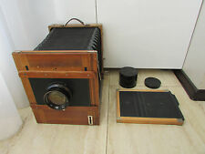 Soviet Vintage FKD 18x24 wooden large format camera w/ I-13 4.5/300mm lens !